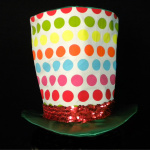 Top Hat Polka Dot Square
